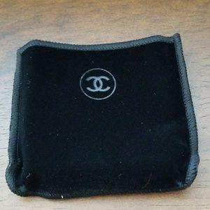 Chanel black velvet pouch